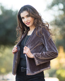 Angela Velvet Crop Jacket