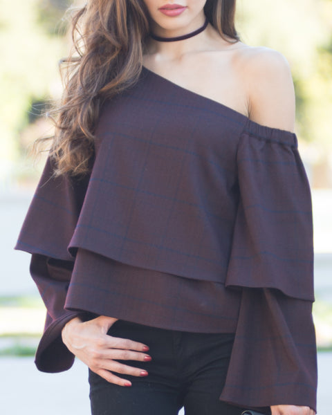 Rosa One Shoulder Ruffle Top