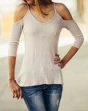 Lettie Ribbed V-neck