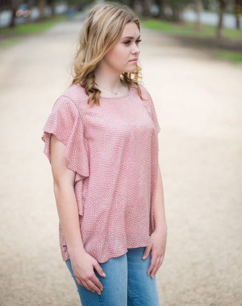 Allison Ruffle Top