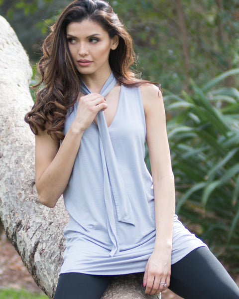 Olivia Grey Sleeveless