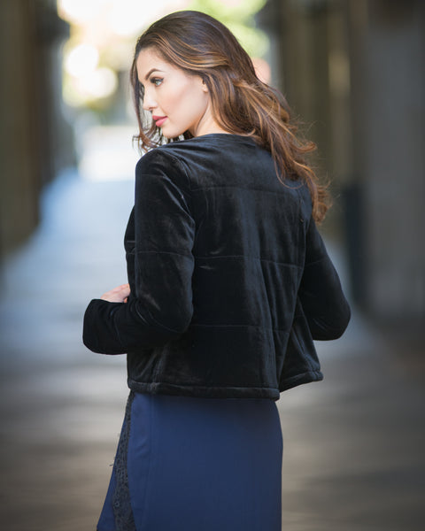 Laura Velvet Crop Jacket