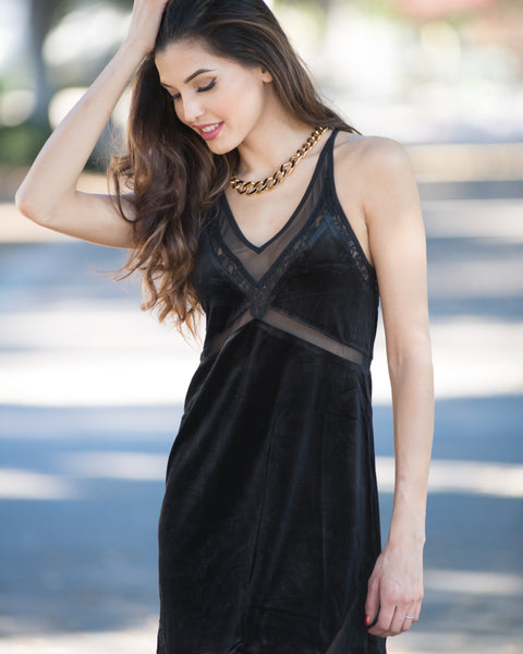 Margherita Velvet Slip Dress
