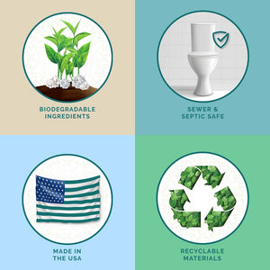 Pristine toilet paper spray eco friendly badges