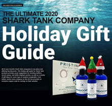 Shark Tank Gift  Guide on ocean back drop with Pristine toilet paper spray