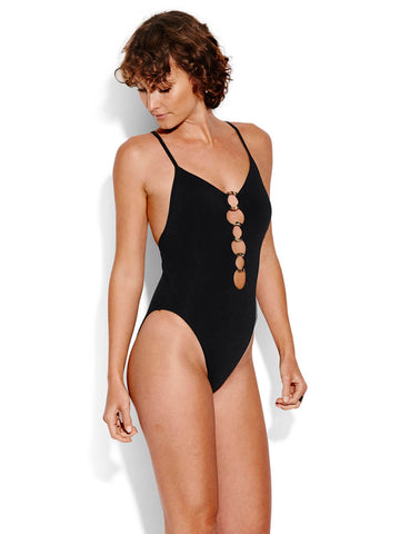 Seafolly Active Ring Front Maillot Black