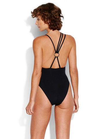 Seafolly Active Multi Strap One Piece Black
