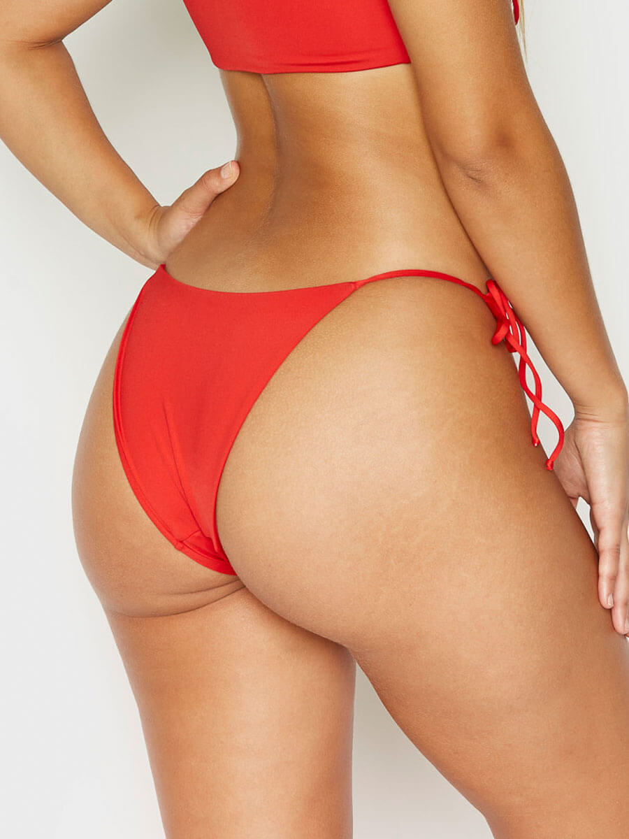Frankies Bikinis Mackenzie Skimpy Bottom Red