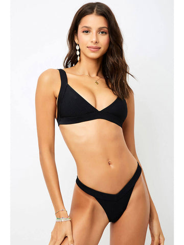 Frankies Bikinis Georgia Top Black