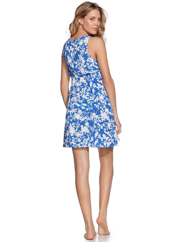 Maaji Sea Garden Short Dress Azure