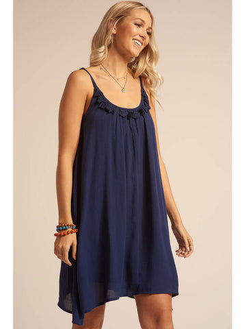 Koy Resort Miami Spaghetti Strap Dress Indigo
