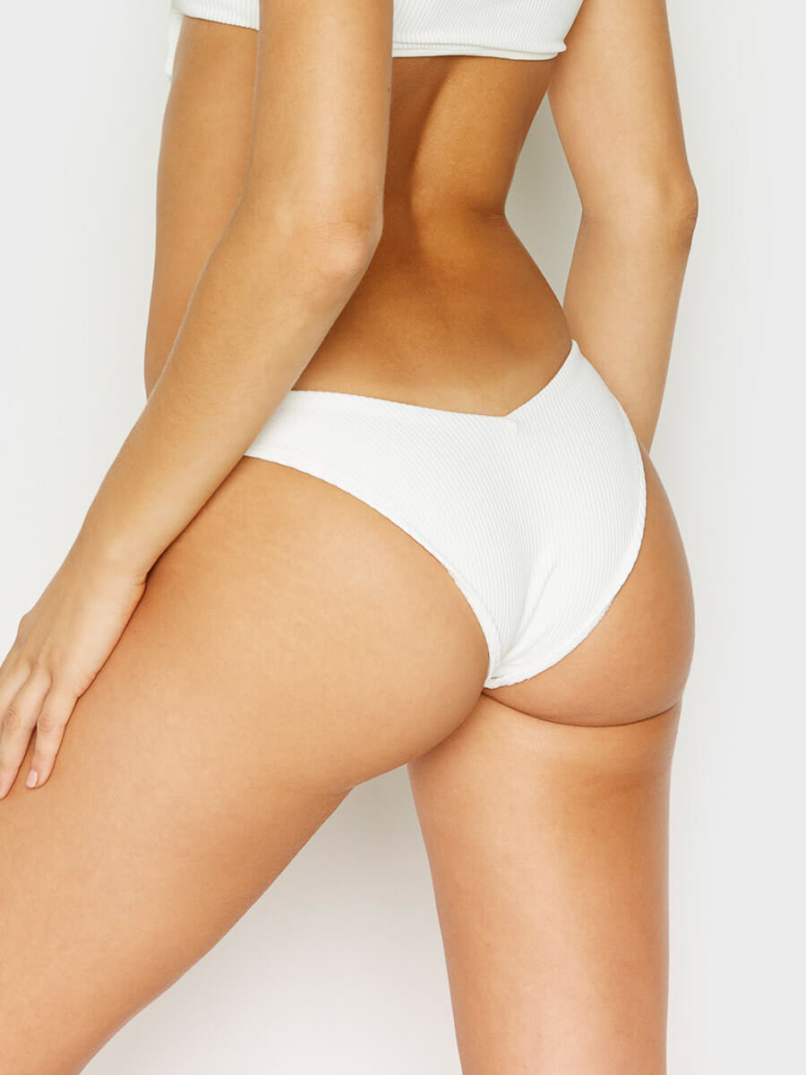 Frankies Bikinis Enzo Cheeky Bottom White