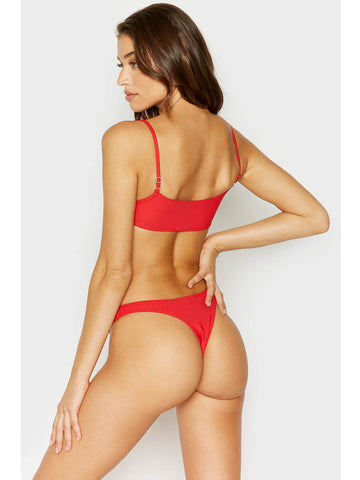 Frankies Bikinis Boots Top Red