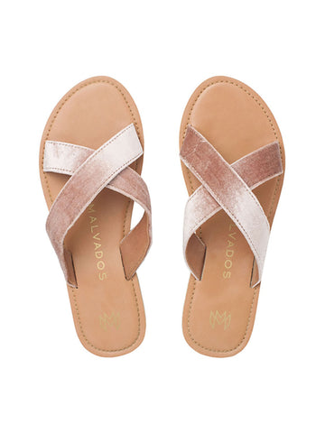Icon Neko Plush Sandals in Cognac
