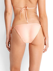 Seafolly Havana Hipster Tie Side Peach, view 2, click to see full size