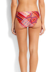 Seafolly Desert Tribe Ruched Side Retro Flame