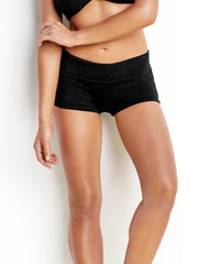Seafolly Boyleg Black, view 1, click to see full size