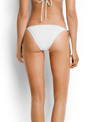Seafolly Brazilian Tie Side White, view 2, click to see full size