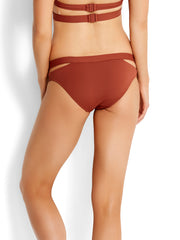 Seafolly Active Split Band Hipster Burnt Amber