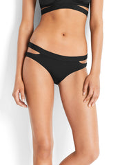 Seafolly Active Split Band Hipster Black