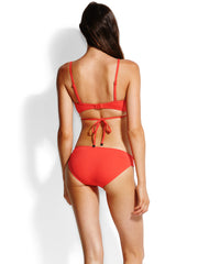 Seafolly Quilted Wrap Front Booster Chilli, view 2, click to see full size