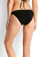 Seafolly Cabana Coast Twin Strap Hipster Black