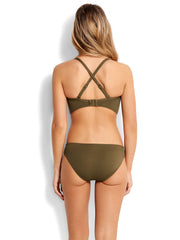 Seafolly Seafolly Quilted DD Cup Bralette Dark Olive