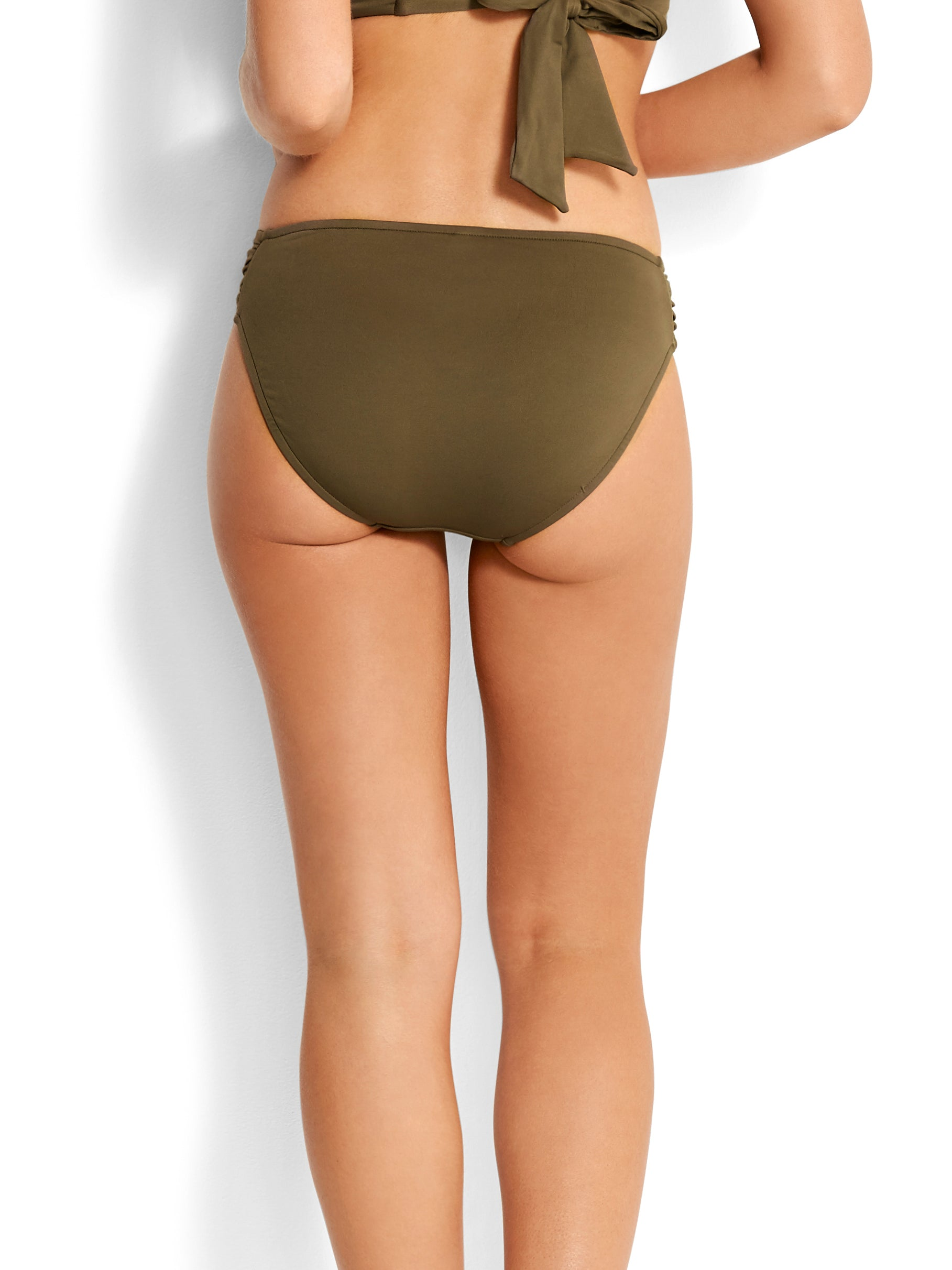 Seafolly Ruched Side Retro Dark Olive