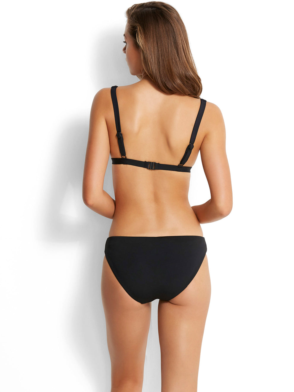 Seafolly Active Wide Strap Long Triangle Black