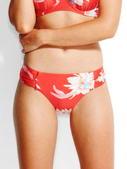 Seafolly Desert Flower Ruched Retro Bottom Chilli, view 1, click to see full size