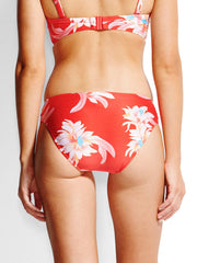 Seafolly Desert Flower Ruched Retro Bottom Chilli, view 2, click to see full size