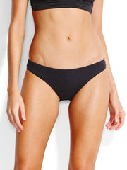 Seafolly Mini Hipster Gathered Back Black, view 1, click to see full size