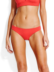 Seafolly Mini Hipster Gathered Back Chilli