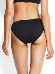 Seafolly V Band Retro Bottom Black, view 2, click to see full size