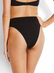 Seafolly Active High Rise Bottom Black