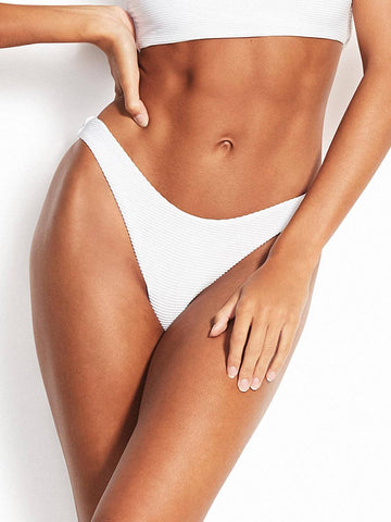 Seafolly Essentials High Cut Bottom White
