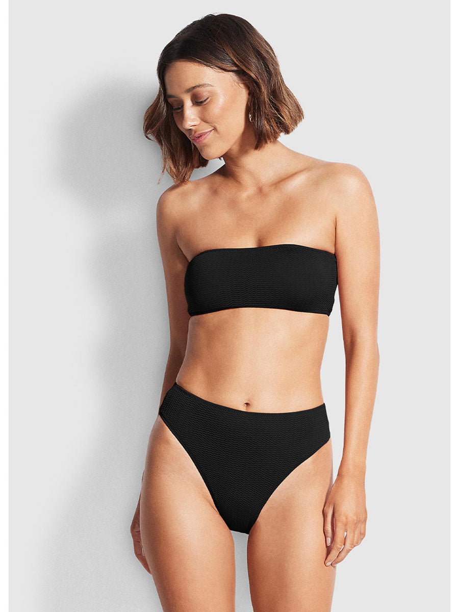 Seafolly Sea Dive High Rise Bottom In Black