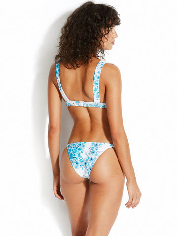 Seafolly Sunflower Longline Triangle Reversible Cup Electric Blue