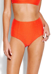 Seafolly La Luna High Waisted Bottom Tangelo, view 1, click to see full size