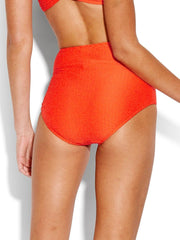 Seafolly La Luna High Waisted Bottom Tangelo, view 2, click to see full size