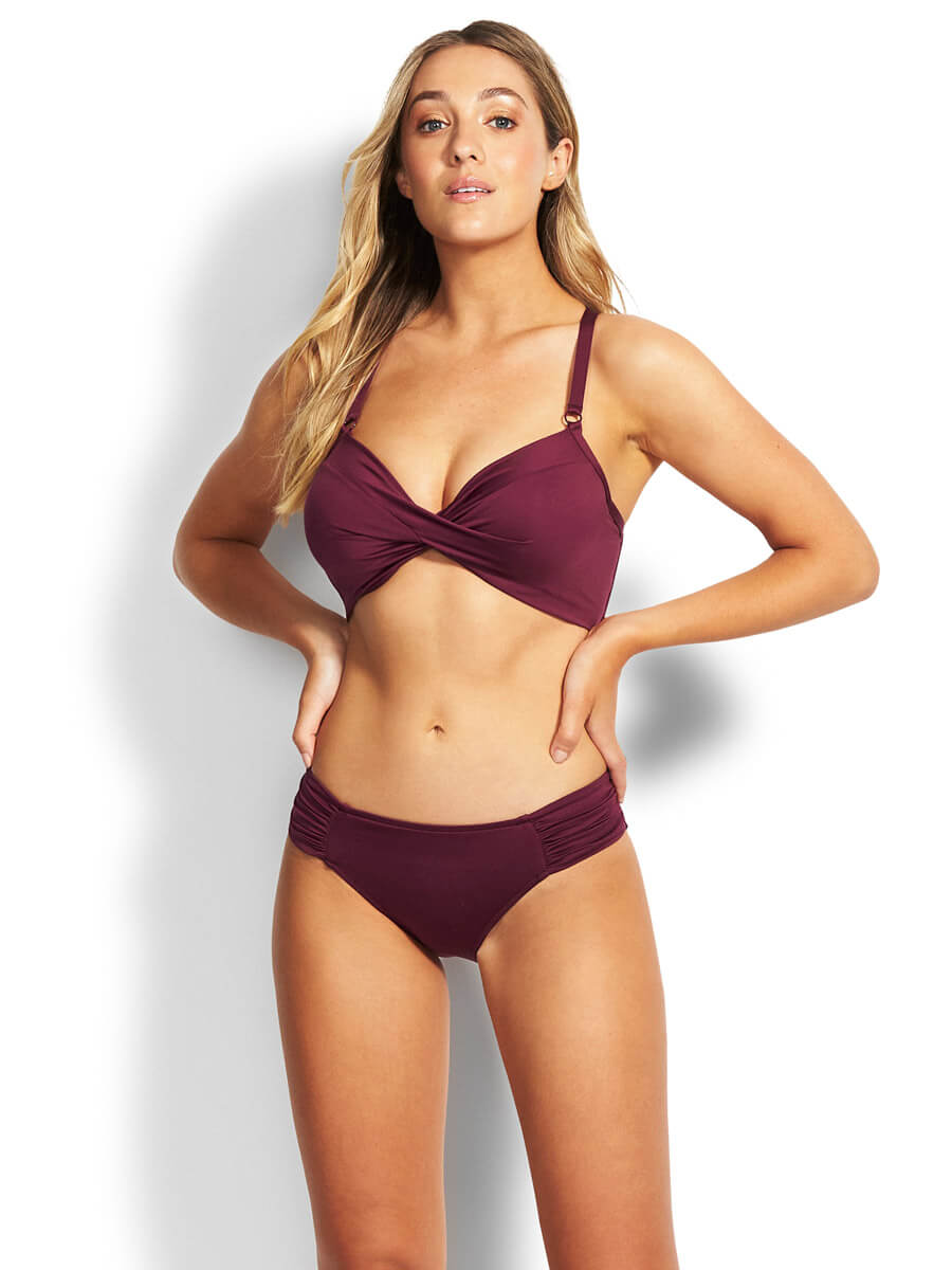 Seafolly Ruched Side Retro Boysenberry