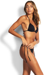 Seafolly Petal Edge Fixed Triangle Black