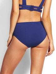 Seafolly Active Wide Side Retro Blue Opal