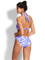 Seafolly Beach Break Bandeau Dazzling Blue, view 2, click to see full size