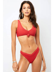Frankies Bikinis Austin Top Cherry, view 1, click to see full size