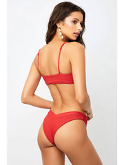 Frankies Bikinis Austin Top Cherry, view 2, click to see full size