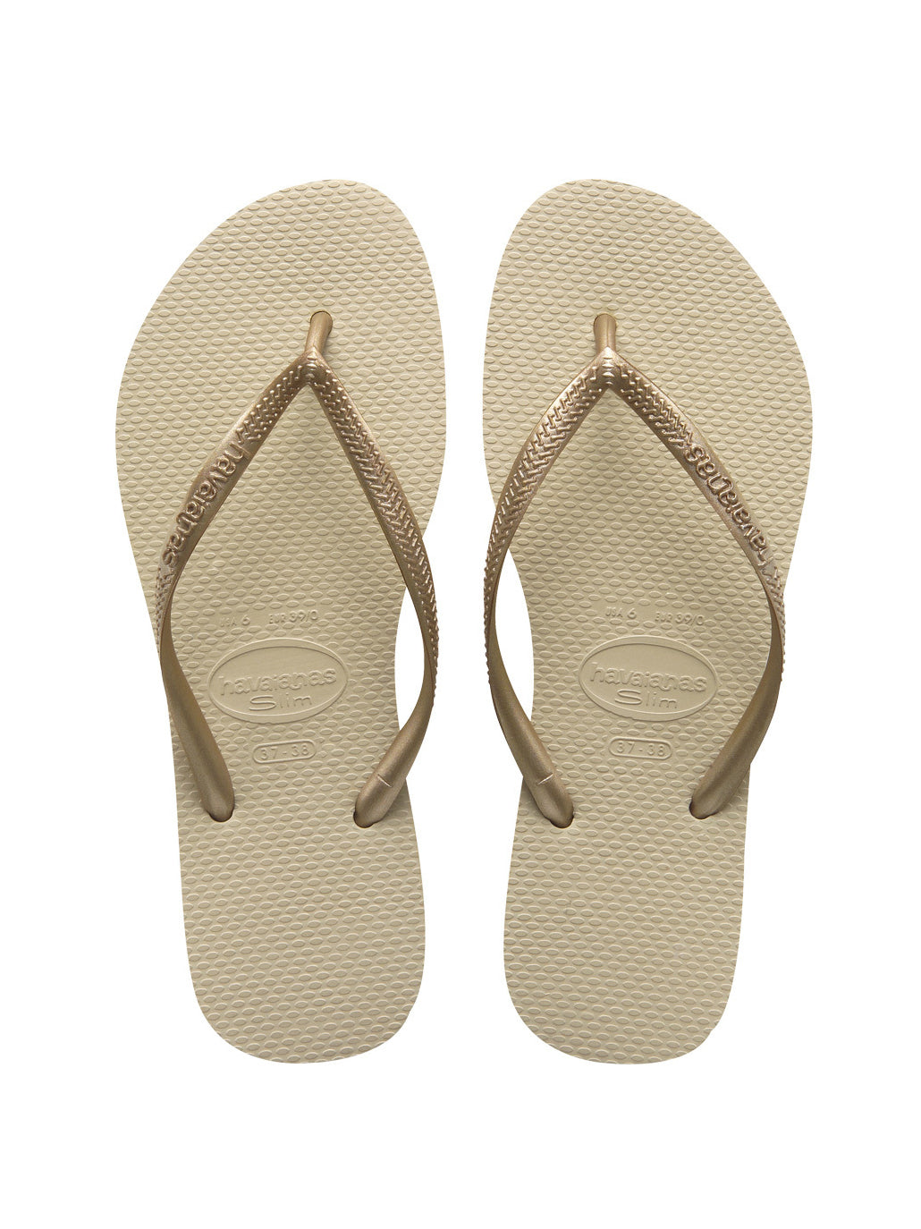 Havaianas Slim Sandals Sand Grey/Gold