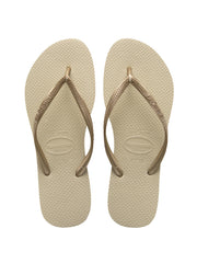 Havaianas Slim Sandals Sand Grey/Gold, view 1, click to see full size