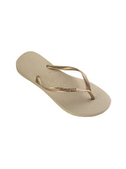 Havaianas Slim Sandals Sand Grey/Gold, view 3, click to see full size