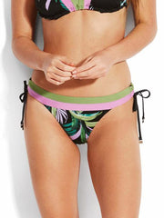 Seafolly Las Palmas Banded Tie Side Hipster Black